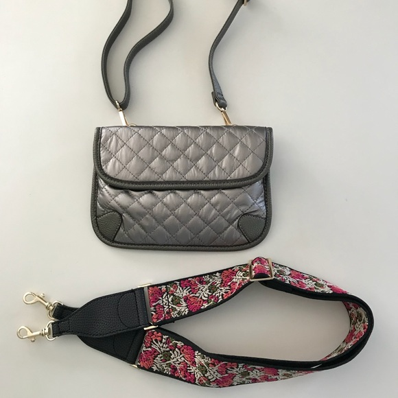 Handbags - Guitar Strap, Crossbody, Shoulder, Belt Bag Pewter